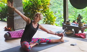 Jan Green's yoga retreat in Bali
