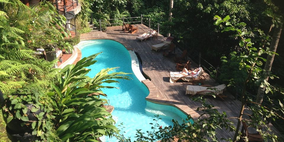 a beautiful resort in the jungle of Ubud