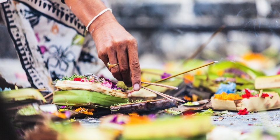 Balinese offering and rituals